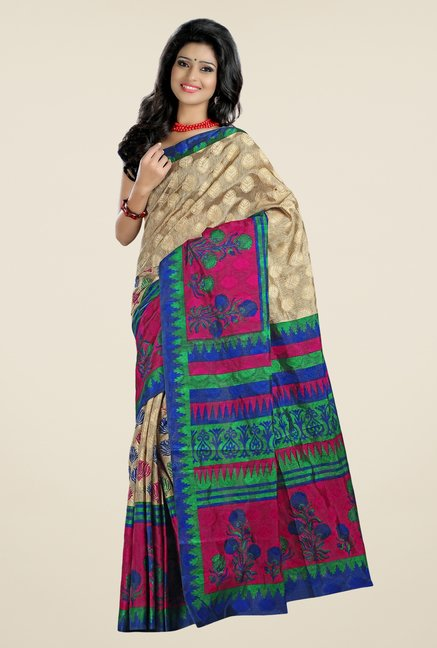 Triveni Multicolor Printed Art Silk Saree