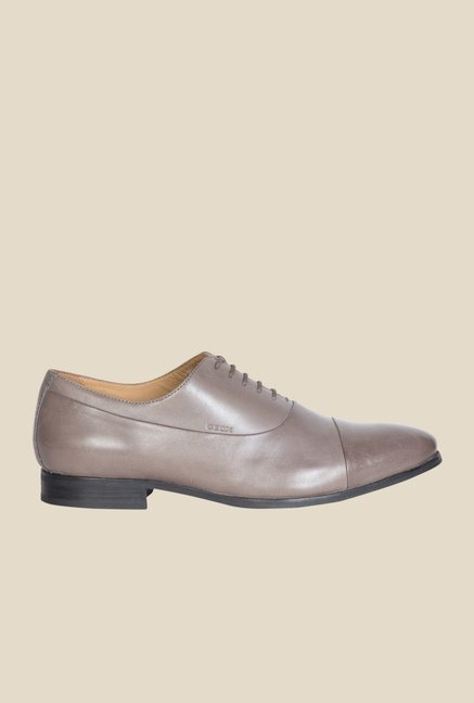 Geox Grey Oxford Shoes