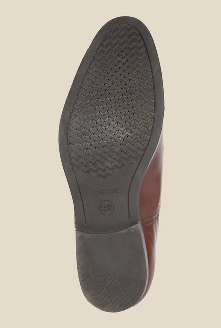 Geox Dark Brown Derby Shoes