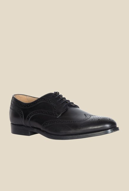 Geox Black Brogue Shoes