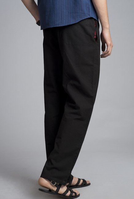 Fabindia Black Solid Trouser