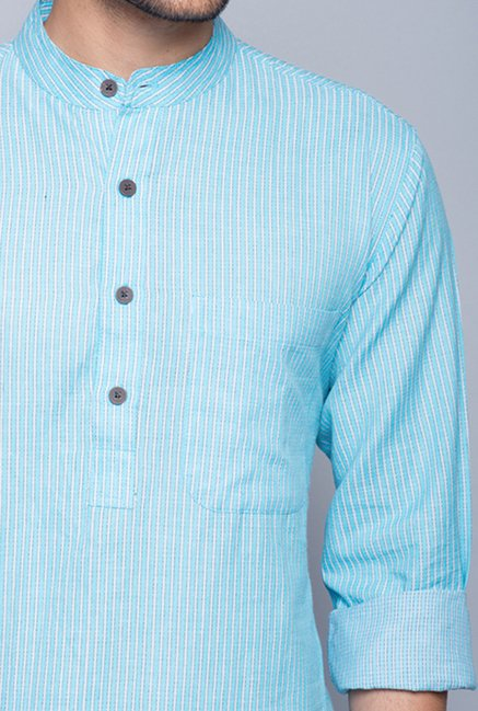 Fabindia Blue Striped Kurta