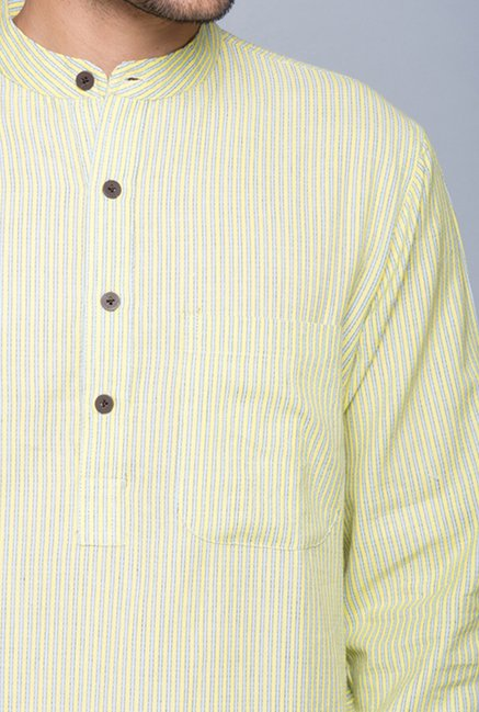 Fabindia Yellow Striped Kurta