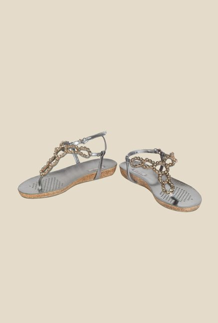 Geox Anthracite Back Strap Sandals