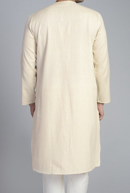 Fabindia Beige Striped Kurta