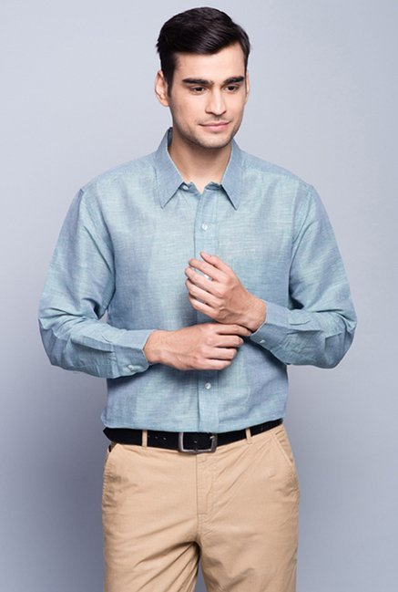 Fabindia Blue Checks Shirt