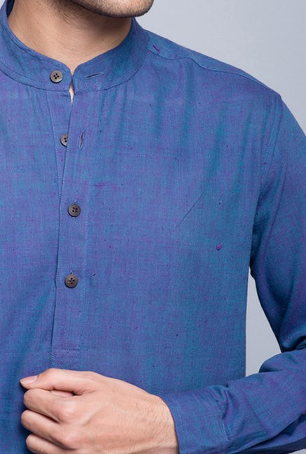 Fabindia Blue Solid Shirt