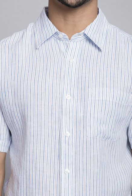 Fabindia White Striped Shirt