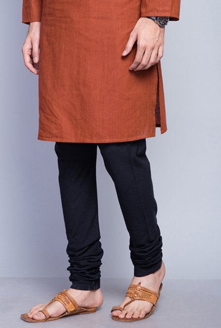 Fabindia Black Solid Cotton Churidar