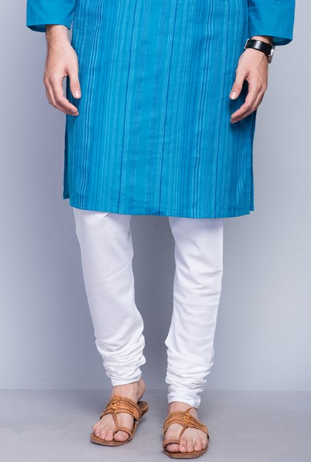 Fabindia White Solid Regular Fit Churidar