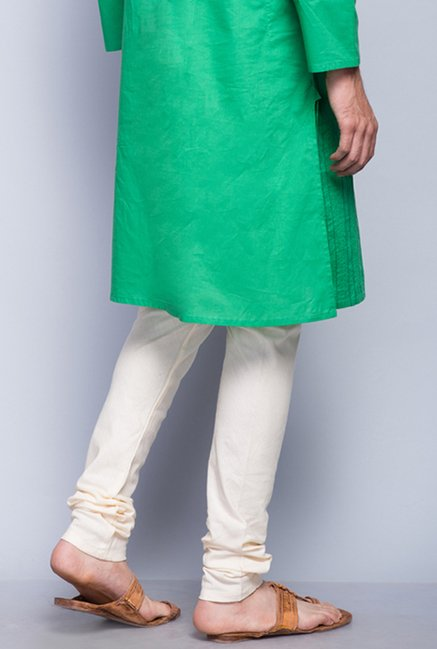 Fabindia Off White Solid Churidar
