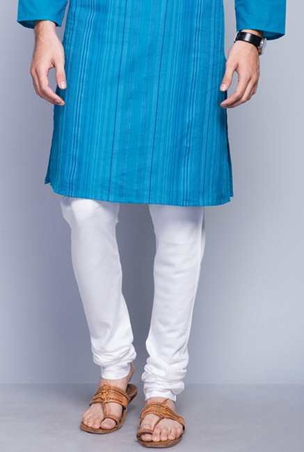 Fabindia White Solid Churidar