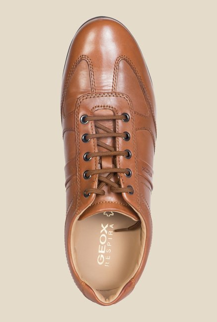 Geox Cognac Casual Shoes