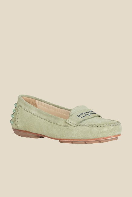 Geox Olive Moccasin Shoes