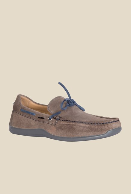 Geox Dove Grey & Navy Boat Shoes