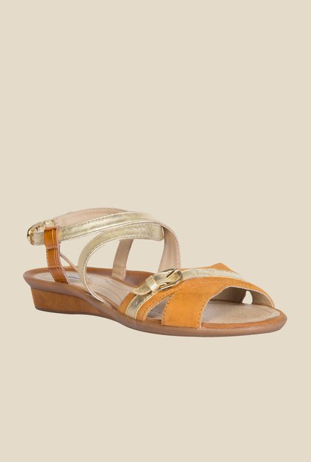 Geox Golden & Ochre Back Strap Sandals