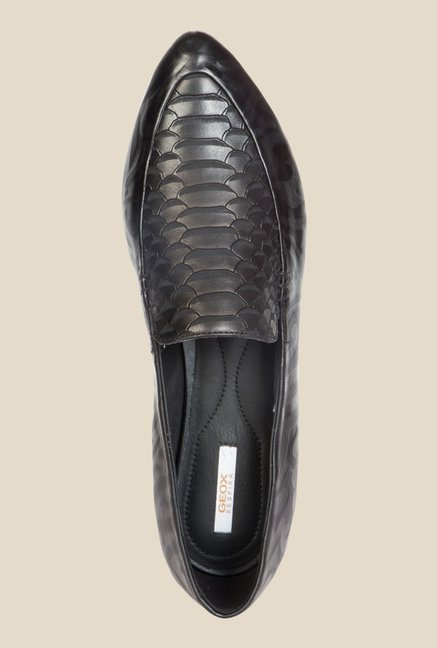 Geox Black Casual Loafers