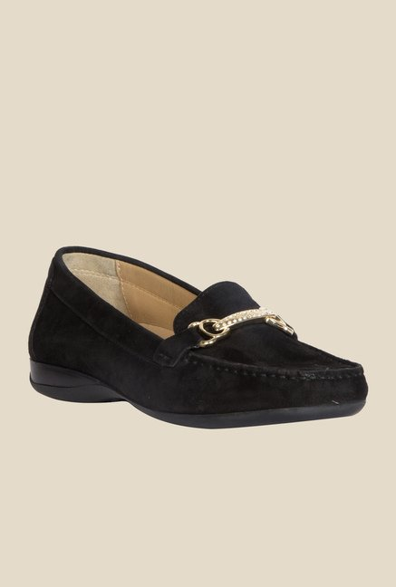Geox Black Moccasin Shoes