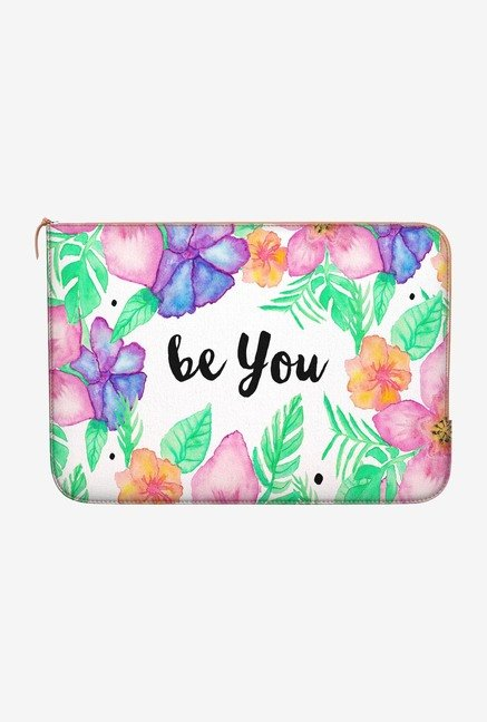 DailyObjects Girly Flowers MacBook Air 13 Zippered Sleeve