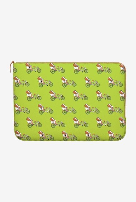 DailyObjects Green Rickshaw MacBook Pro 15 Zippered Sleeve