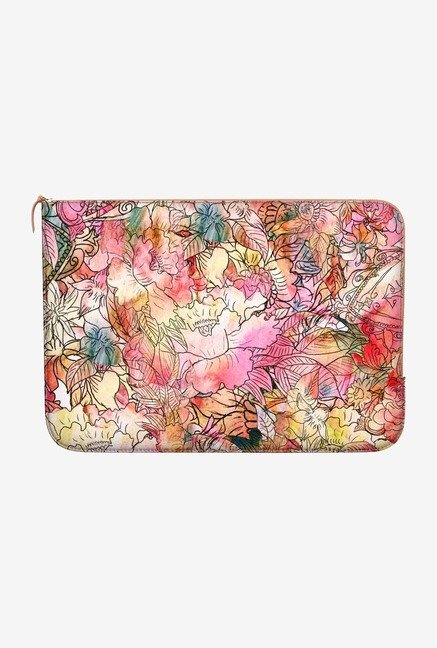 DailyObjects Colorful Floral MacBook Pro 13 Zippered Sleeve