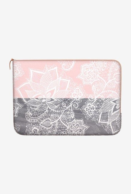 DailyObjects Pink Blocks MacBook Pro 13 Zippered Sleeve