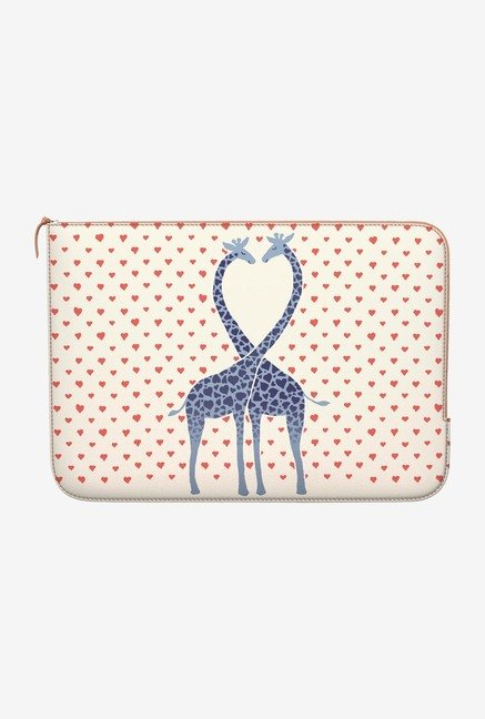 DailyObjects Giraffes Love MacBook Air 11 Zippered Sleeve