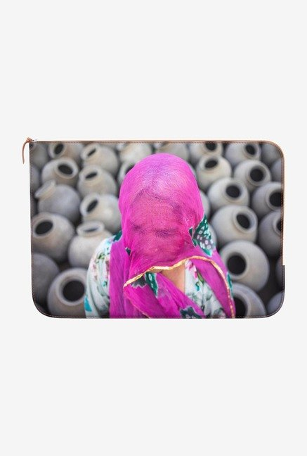 DailyObjects Gold on Fuschia MacBook Air 11 Zippered Sleeve