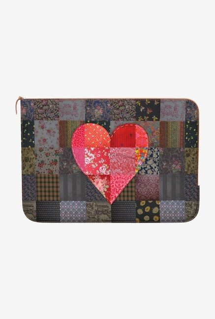 DailyObjects Heart Patch MacBook 12 Zippered Sleeve