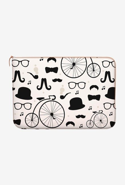 DailyObjects Hipster Icons MacBook 12 Zippered Sleeve