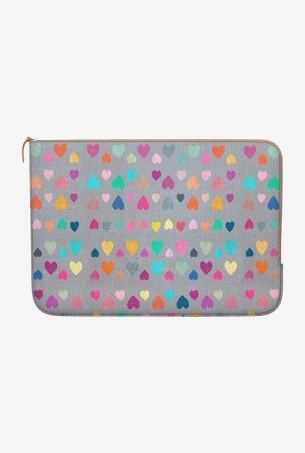 DailyObjects Happy Hearts MacBook Pro 13 Zippered Sleeve