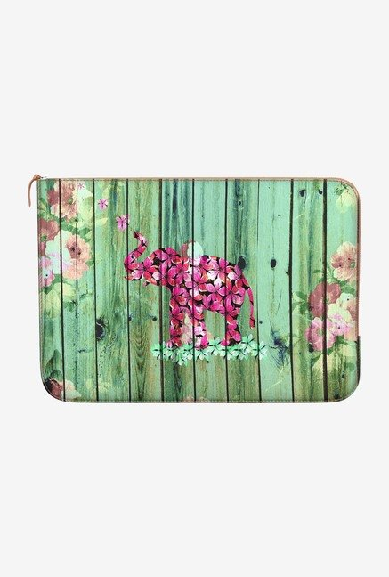DailyObjects Flower Elephant MacBook 12 Zippered Sleeve