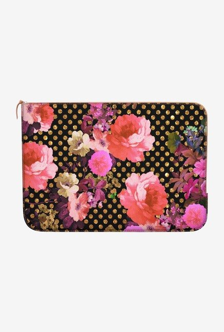 DailyObjects Flowers Dots MacBook Pro 15 Zippered Sleeve