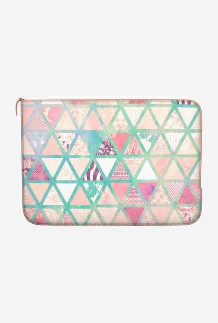 DailyObjects Triangles Patch MacBook Pro 15 Zippered Sleeve
