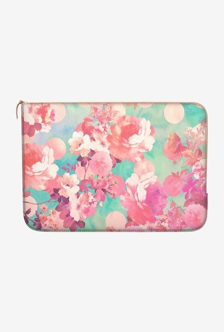 DailyObjects Floral Polka MacBook Pro 15 Zippered Sleeve