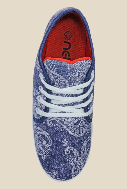 Nell Blue & White Sneakers
