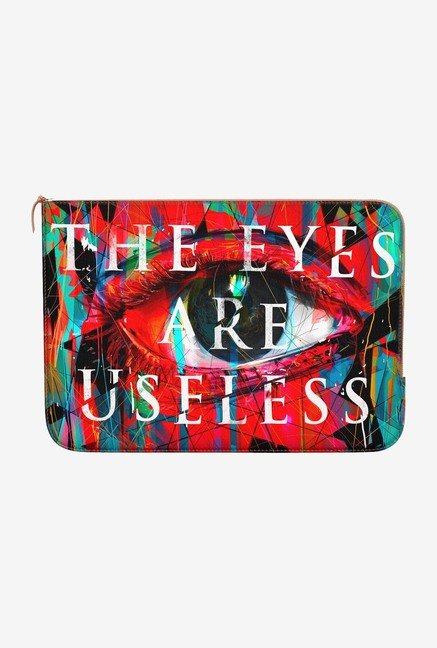 DailyObjects Useless Eyes MacBook 12 Zippered Sleeve