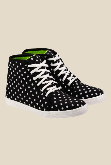 Nell Black & White Sneakers