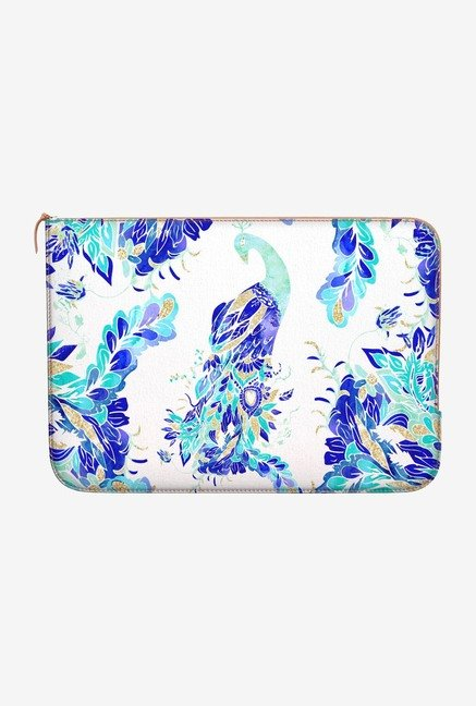 DailyObjects Blue Peacock MacBook Pro 15 Zippered Sleeve
