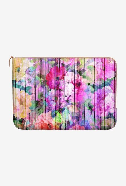DailyObjects Floral Purple MacBook Pro 15 Zippered Sleeve