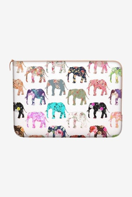 DailyObjects Floral Elephant MacBook Pro 15 Zippered Sleeve