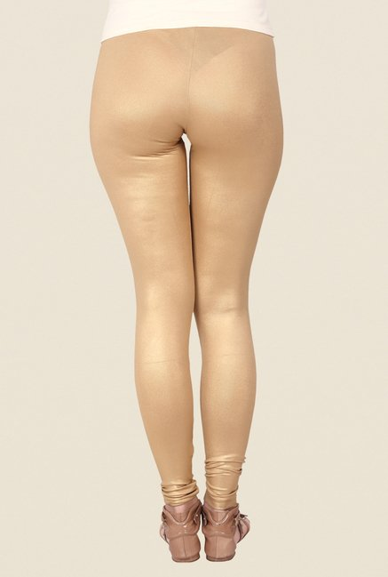 Soie Gold Solid Leggings
