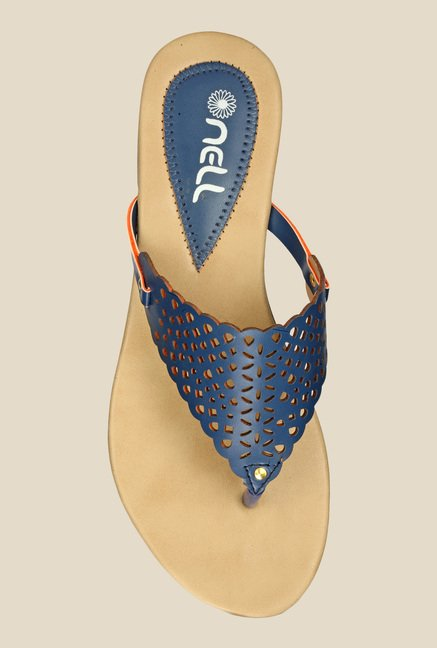 Nell Navy Thong Sandals