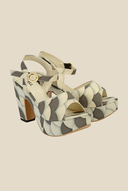Nell White Ankle Strap Sandals