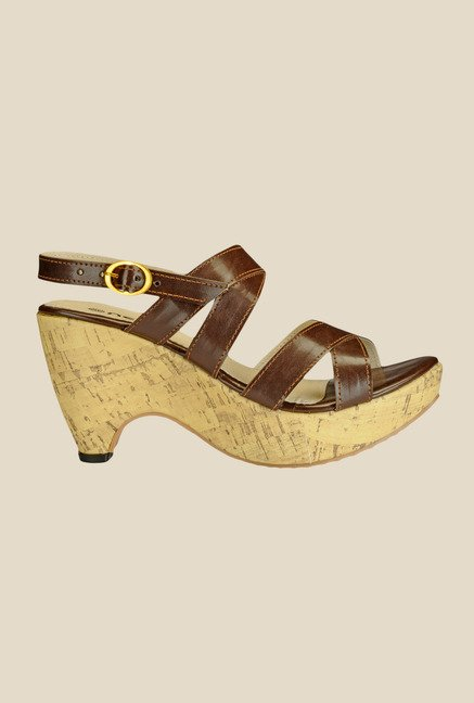 Nell Brown Back Strap Sandals