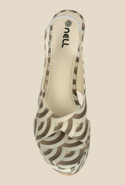 Nell Cream Sling Back Sandals