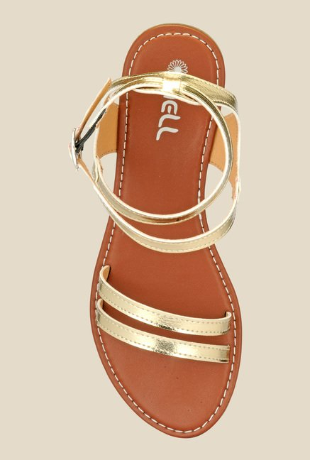 Nell Golden Back Strap Sandals