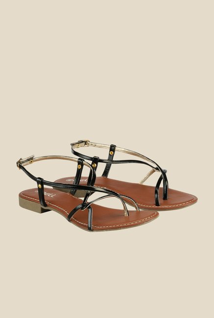 Nell Black Back Strap Sandals