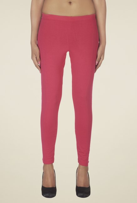 Soie Coral Solid Leggings