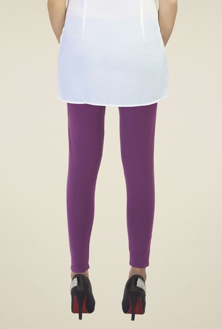 Soie Purple Self Print Leggings